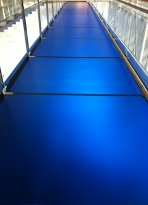 blue catwalk