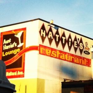 hatties mural sign