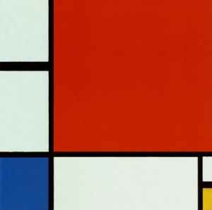 piet mondrian Composition with Red Yellow blue 1919