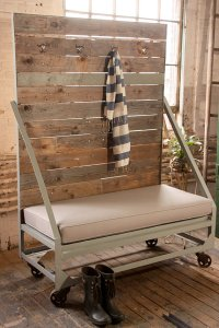 recycled industrial bench