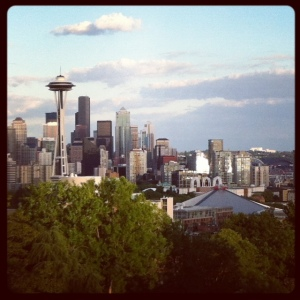 seattle skyline form Kerry Park