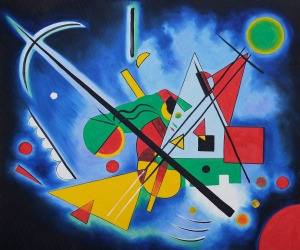 Blue Painting by Wassily Kandinsky OSA468