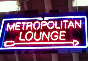 metro neon sign