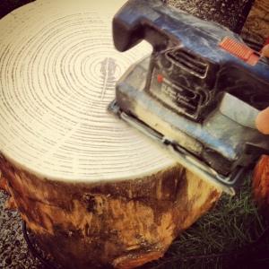 sanding stumps