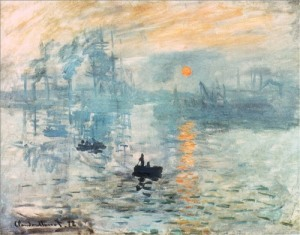 the orange sun monet