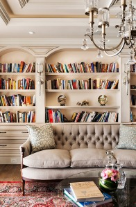 sofa and book shelf