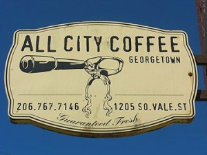 all city coffee sign