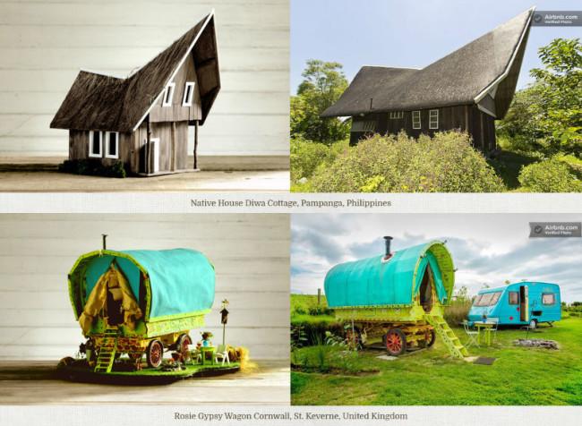 Beautiful swanky airbnb bird houses