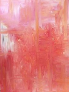 art abstrct pink
