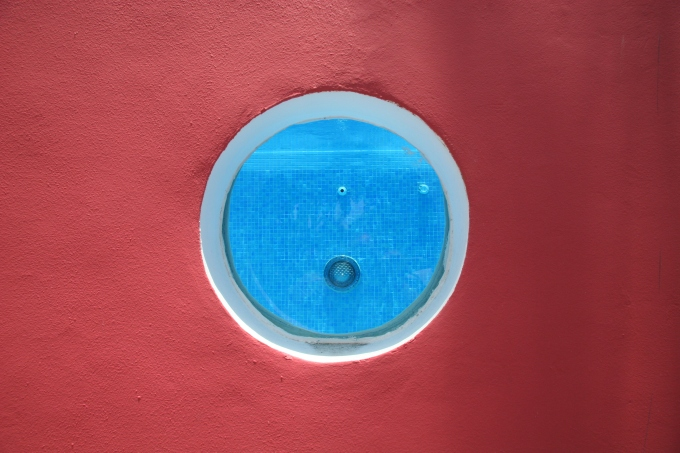 pink house porthole large