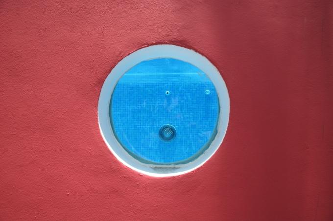 pink house porthole large