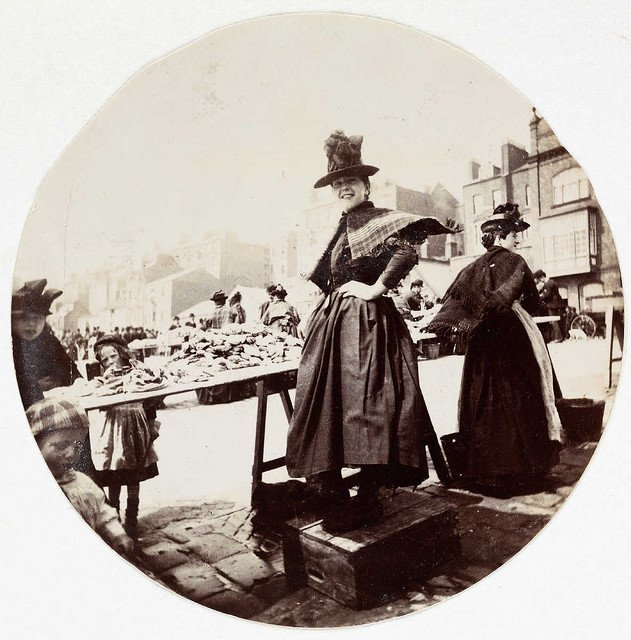 Woman-at-a-market-stall-about-1890